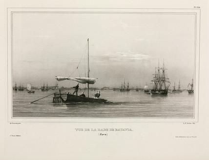 Sailing boat, Batavia, Java, 1826-1829.