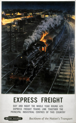 'Expres Freight', BR poster, 1948-1965.