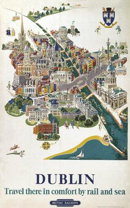 'Dublin', BR poster, 1954.