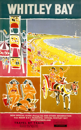 'Whitley Bay', BR poster, 1962.