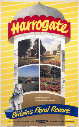 'Harrogate - Britain's Floral Resort', BR poster, 1961.
