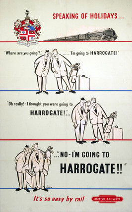 'Speaking of Holidays - I'm Going to Harrogate', BR poster, 1948-1965.