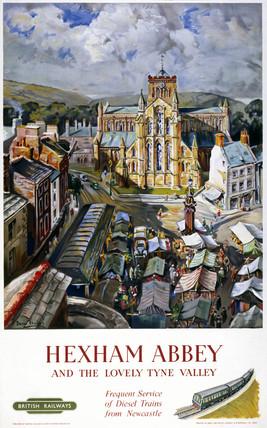 'Hexham Abbey', BR poster, 1958.
