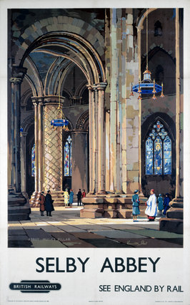 'Selby Abbey', BR poster, 1948-1965.