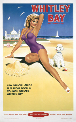 'Whitley Bay Northumberland', BR poster, 1957.