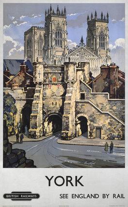 'York', BR poster, 1948-1965.