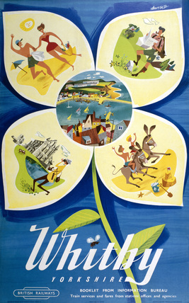 'Whitby', BR poster, 1954.