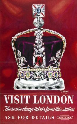 'Visit London', BR poster, 1948-1965.
