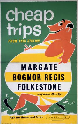 'Cheap Trips' BR (SR) poster, c 1960s.