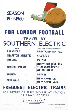 'London Football', BR poster, 1959-1960.