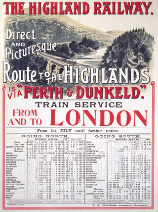 'Route to the Highlands', Highland Railway poster, 1905.