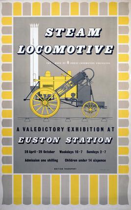 'Steam Locomotive', poster, 1955.