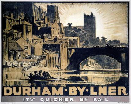'Durham', LNER poster, 1923-1947.