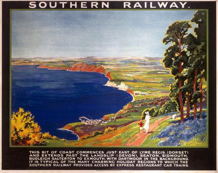 The Dorset Coast, SR poster, 1923.