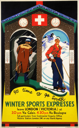 'Winter Sports Expreses', SR poster, 1934.