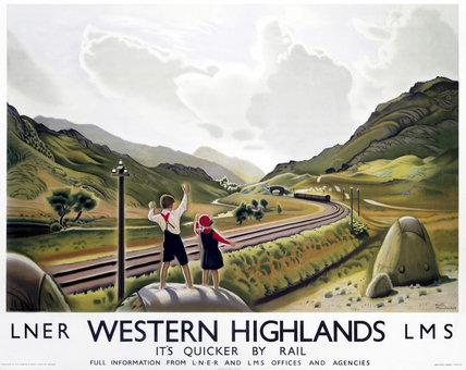 'Western Highlands', LNER poster, 1923-1947.