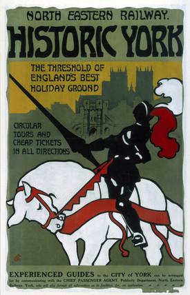 'Historic York', NER poster, 1910.