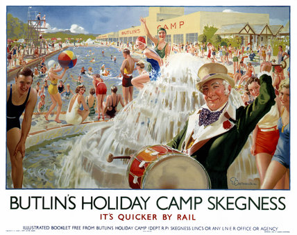 'Butlin's Holiday Camp, Skegnes', LNER poster, 1930.