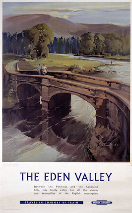 'The Eden Valley', BR (LMR) poster, 1959.