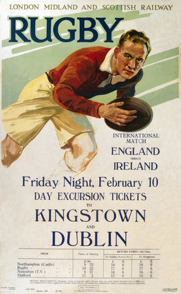 'Rugby, LMS poster, 1928.