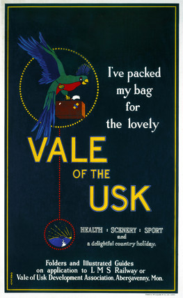 'Vale of the Usk', LMS poster, 1923-1947.