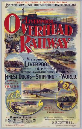 'Liverpool Overhead Railway', LoeR poster, c 1910.