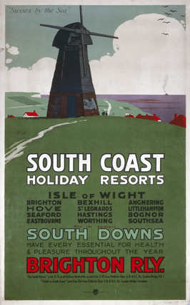 'South Coast Holiday Resorts', LBSCR poster, c 1915.