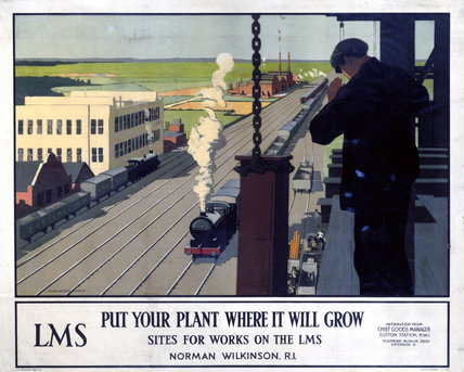'Put Your Plant Where It Will Grow', LMS poster, c 1930s.