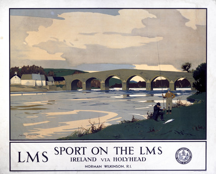'Sport on the LMS - Ireland via Holyhead', LMS poster, c 1930s.