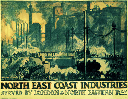 'North East Coast Industries', LNER poster, 1935.