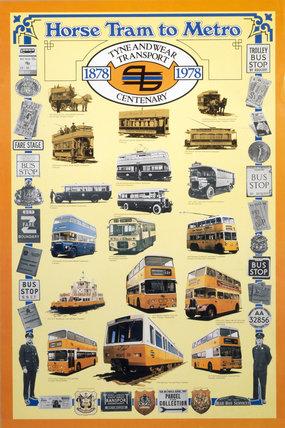 'Horse Tram to Metro', poster, 1978.