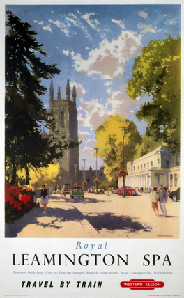 'Royal Leamington Spa', BR (WR) poster, 1958.