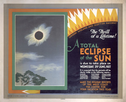 'A Total Eclipse of the Sun', LMS poster, 1927.