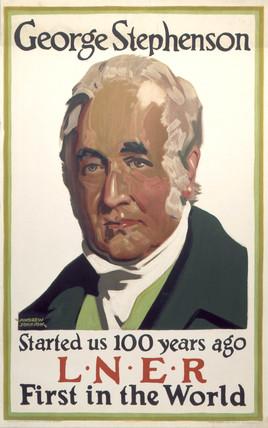 'George Stephenson', LNER poster, 1930.