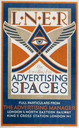 'The Travelling Eye - Advertising Space', LNER poster, 1923-1947.