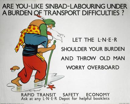 'Rapid Transit - Safety - Economy', LNER poster, 1923-1947.