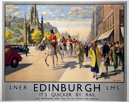 'Edinburgh', LNER/LMS poster, 1934.