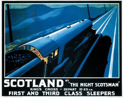 'Scotland by the Night Scotsman', LNER poster, 1932.