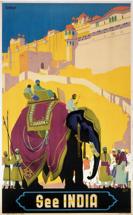 'See India', railway poster, c 1930s.