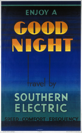 'Enjoy a Good Night', SR poster, 1933.