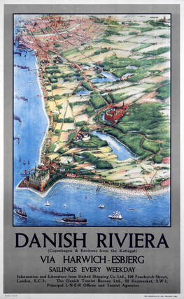 'Danish Riviera via Harwich/Esbjerg', LNER poster, 1923-1947.