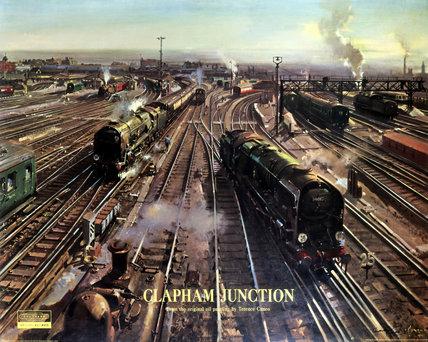 'Clapham Junction', BR (SR) poster, 1962.