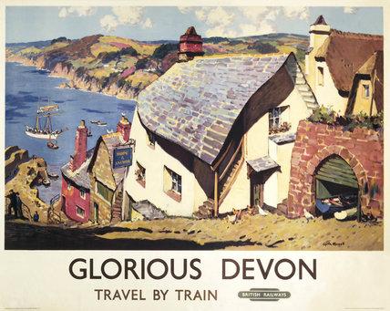 'Glorious Devon', BR poster, 1923-1947.