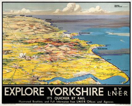 'Explore Yorkshire', LNER poster, 1923-1947.