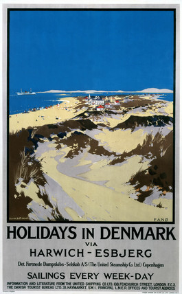 'Holidays in Denmark - Fano', railway poster, 1923-1947.