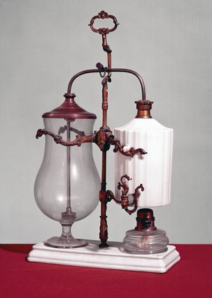 Syphon-action coffee infuser, c 1855.