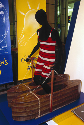 Boat shoes for walking on water, Science Museum, London, 1993.
