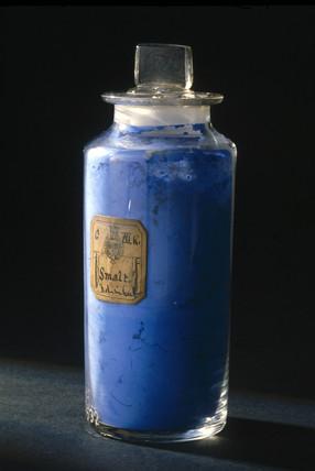 Bottle of 'smalt', late 18th century.