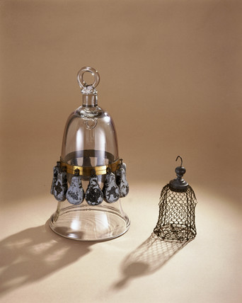 Model diving bell, with sinking weights, 1752.
