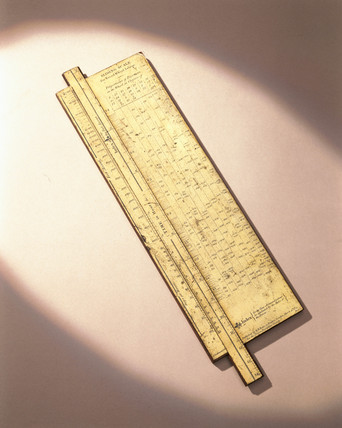 Calculator for treadwheel labour, 1822-1851.